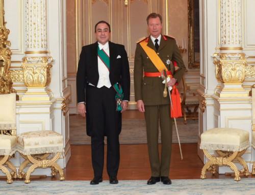Su Alteza Real el Gran Duke de Luxemburgo recibe las Cartas Credenciales del nuevo Embajador de Honduras.
