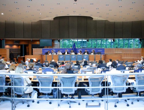 Canciller María Dolores Agüero Lara en el Parlamento Europeo