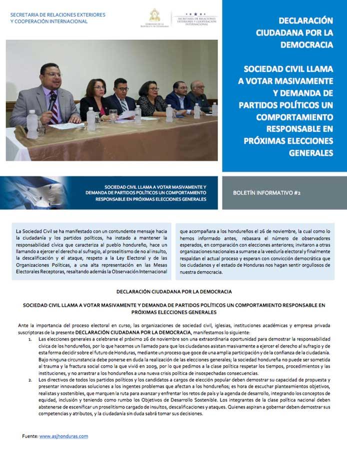 Embassy of Honduras Elections 2017